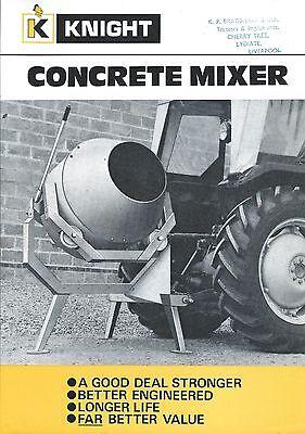 Equipment Brochure - Knight - Concrete Mixer - Farm Tractor Version E3284