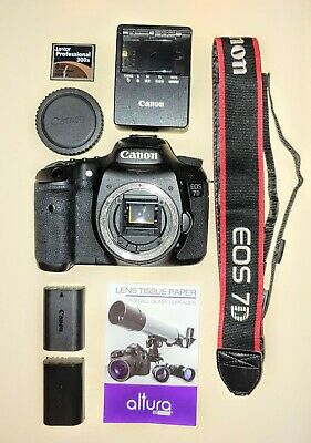Canon EOS 7D 18.0MP Digital SLR Camera (Body + Extras!) ++Read Notes++