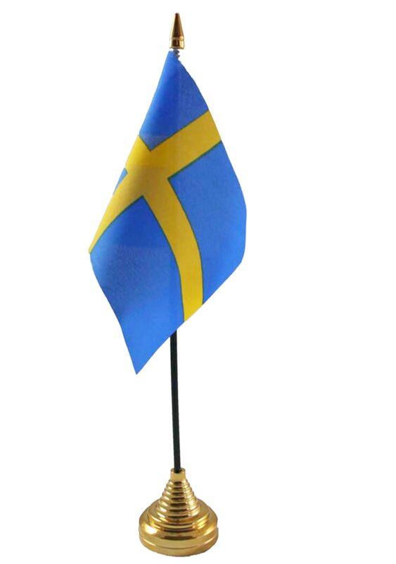 SWEDEN TABLE FLAG desktop Swedish Stockholm Gothenburg Malmo FLAGS SVERIGE