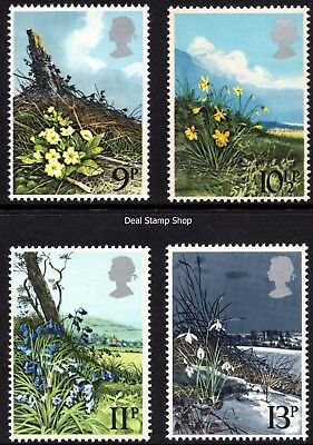 GB 1979 Spring Wild Flowers Complete Set Unmounted Mint