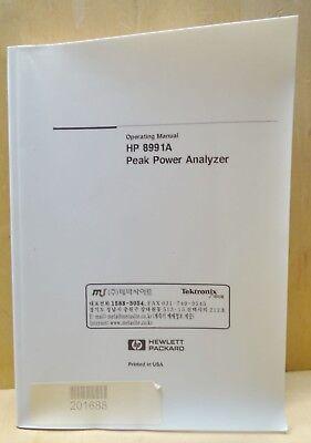 Hp 8991a Peak Power Meter Operating Manual