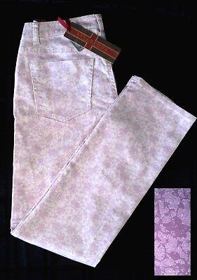 Liverpool Women Lavender Jeans Curvy Fit Lace Print 12/14 -SEE MEASUREMENTS NWT - Lace Print Jeans