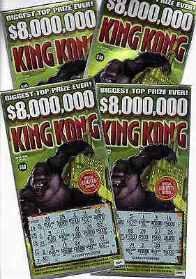 King Kong  10 New York State Scratch Off Lottery Ticket   Used   Very Good