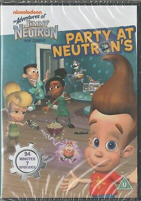 Jimmy Neutron: Party at Neutrons 2006 DVD. 7 Adventures. 94 Minutes New & Sealed - Jimmy Neutron Party
