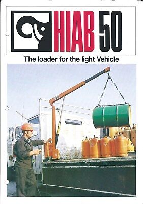 Equipment Brochure - Hiab - 50 - Crane For Light Truck - C1970s E4777