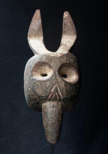 Chamba Zoomorphic Forehead Mask, Nigeria, West African Tribal Art.