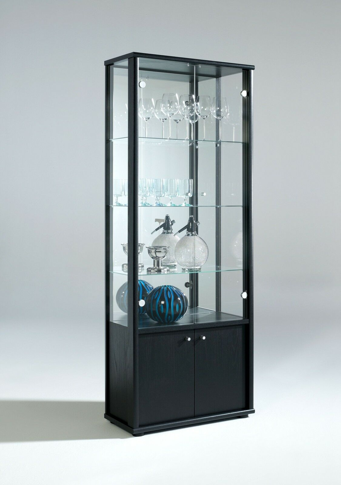 Living Room Neptune 1 Or 2 Door Glass Display Cabinet With Internal Light EBay