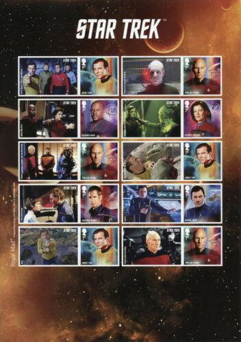 GB+Star+Trek+Stamps+2020+MNH+Captains+Picard+Kirk+Janeway+Sisko+10v+S%2FA+M%2FS