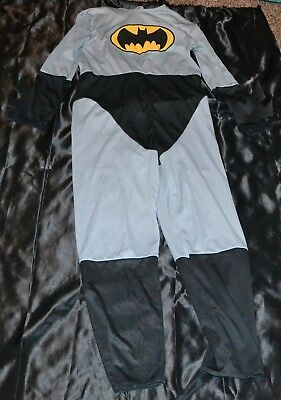 Batman Bat Man Super Heroes Hero Halloween Costume Fits Kids Size Boys 10-11-12