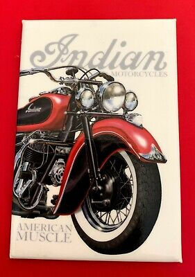 NOS Indian Motorcycle MAGNET Motocycle AMERICAN MUSCLE Red / Black CHIEF Vintage