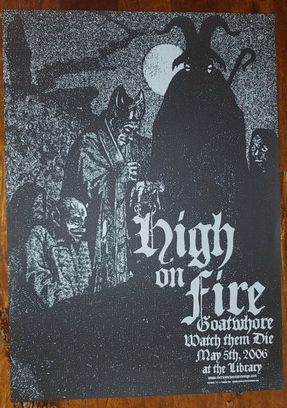 2006 High on Fire Concert Poster by Jared Connor