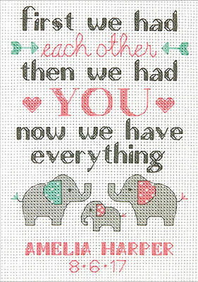 Family Birth Record Cross Stitch Kit