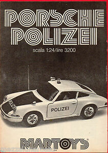 Pubblicita-Advertising-MARTOYS-1975-PORSCHE-POLIZEI