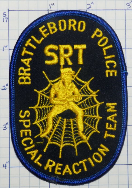 VERMONT, BRATTLEBORO POLICE SRT SPECIAL REACTION TEAM BLUE PATCH