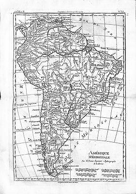 Antique maps, Amerique Meridionale par M Bonne