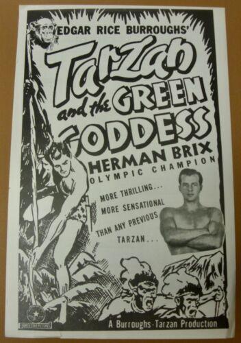 Vintage TARZAN and the GREEN GODDESS (1938) 2-Sided PRESS SHEET - Herman Brix