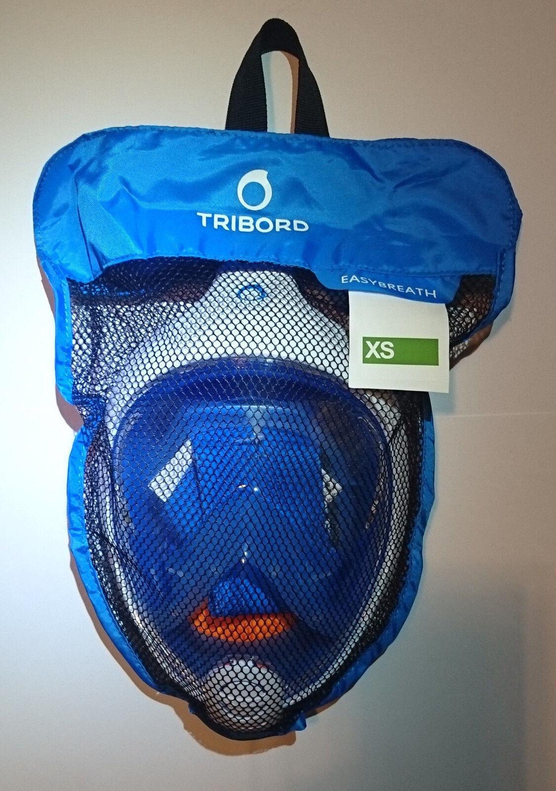 как выглядит THE ORIGINAL Tribord Easybreath Snorkeling Mask, BLUE size XS, NEW, PERFECT фото