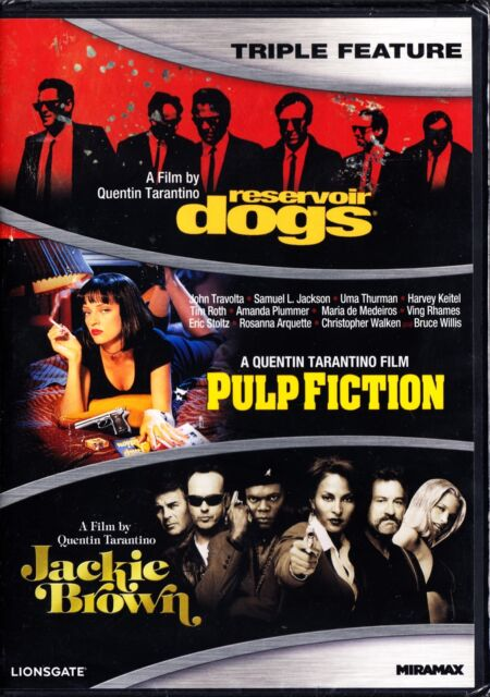 QUENTIN TARANTINO TRIPLE - RESERVOIR DOGS / PULP FICTION / JACKIE BROWN DVD R1