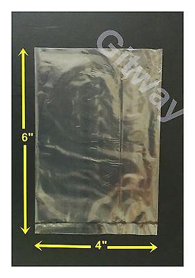 "1000  4"" x 6"" Polyethylene Clear Flat Food Plastic Open Top Bags 4x6 Bag Baggies"