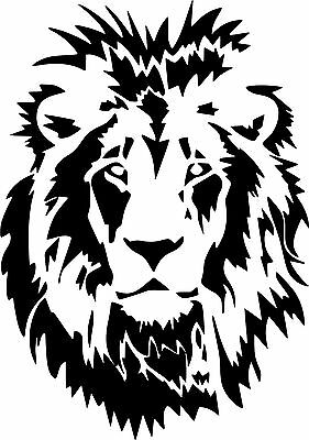 Lion Head Wild Animal Art Graphic Vinyl Sticker Car Truck Wall Laptop (Wild Animals Wall)