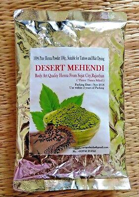 100g 3.5 oz Rajasthani Mehendi Henna Powder Body Art Quality 3 Times Sifted
