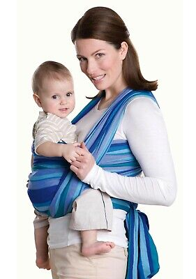 Amazona 100% Cotton Baby Carry Sling in Blue Stripes /Amazonas Carry Sling berry