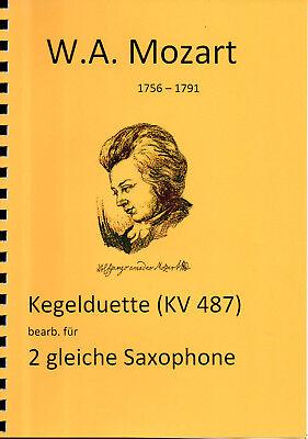 Mozart - Kegelduette für 2 gleiche Saxophone.