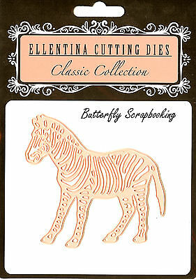 ZEBRA Zoo Wildlife Craft Cutting Die Ellentina Die DCN111 Tessler Crafts New (Zoo Craft)