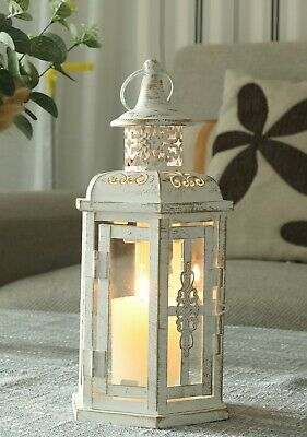 SILVER CHROME TEALIGHT HANGER Shabby Chic Ethnic Style Candle Holder NEW