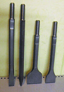 4pc Breaker chisel set flat point 50mm & 75 bolster Kango 900 950 makita hitachi