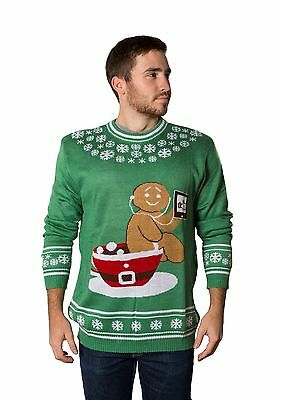 Crazy Holidaze Men's Gingerbread Pottytime Funny Ugly Christmas - Funny Ugly Christmas Sweaters For Men