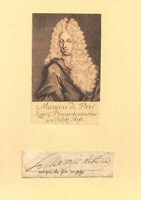 1700 TURINETTI DE PRIÉ - Diplomat Statthalter Österrreichische Niederlande