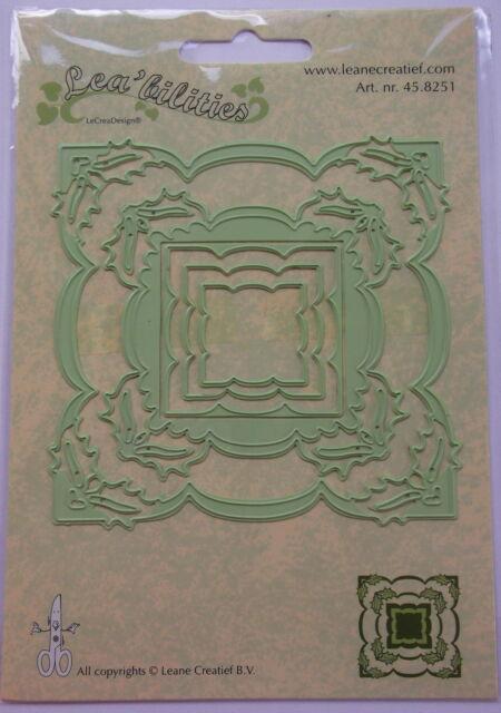 Lea'bilities Design Die Cutter - Frame Holly, craft, card making, 8251