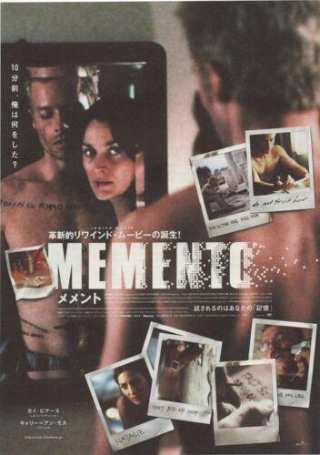 Memento 2000 Christopher Nolan Japanese Chirashi Flyer Poster B5