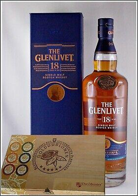 The Glenlivet 18 Jahre Single Malt Whisky Whiskey +45 Edel Schokoladen Holzkiste