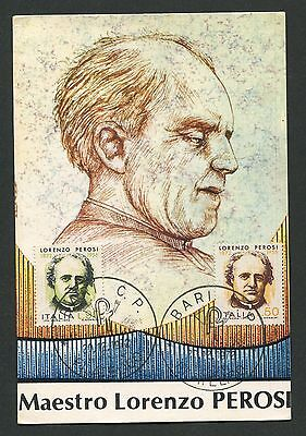 ITALIA MK 1972 PEROSI KOMPONIST COMPOSER MAXIMUMKARTE MAXIMUM CARD MC CM d186