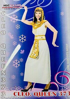 Ägyptisch Damen Kleopatra Style Kostüm 3 Tlg Hellbraun & Gold Abendkleid - Ägyptischen Kostüm Kragen