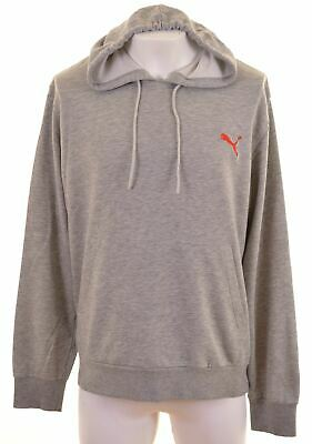 PUMA Mens Hoodie Jumper XL Grey Cotton  IS09