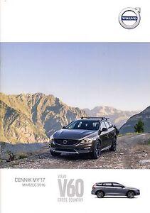 Volvo V60 Cross Country 03 / 2016 catalogue brochure - <span itemprop='availableAtOrFrom'> Varsovie, Polska</span> - Volvo V60 Cross Country 03 / 2016 catalogue brochure -  Varsovie, Polska