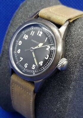1942 WWII Hamilton 17J 987S Military Keystone Watch Serviced