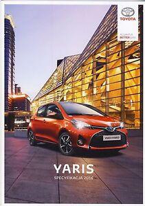 Toyota Yaris 01 / 2016 catalogue brochure depliant - <span itemprop='availableAtOrFrom'> Varsovie, Polska</span> - Toyota Yaris 01 / 2016 catalogue brochure depliant -  Varsovie, Polska