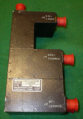Used 1 1000 Mhz Microphase Quadruplexer   T
