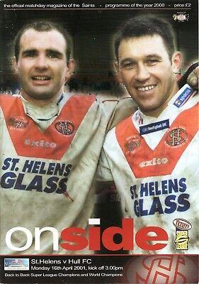St Helens v Hull - 2001 - Super League
