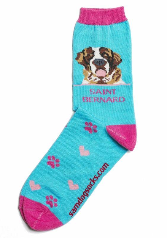 Saint Bernard Dog Socks