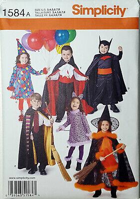 Cat Dracula Costume (SIMPLICITY PATTERN COSTUME BATMAN CAT WOMAN WITCH DRACULA CHILD SIZE 3-8)