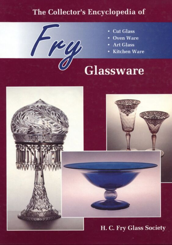 Fry Glass Patterns - Cut Etched Ovenware Reeded Art Etc. / Scarce Book + Values