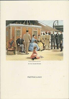 P&O Pencillings. 'Sunday Morning Muster' Luncheon Menu. 1991  HL2.861