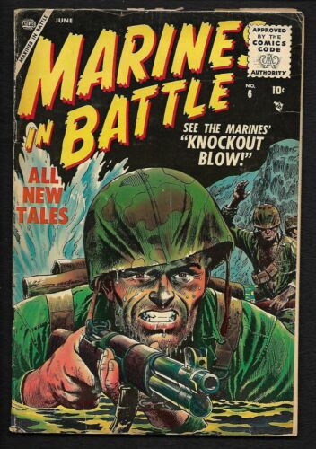 MARINES IN BATTLE #6 ATLAS / MARVEL WAR COMIC BOOK