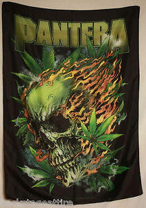 PANTERA Skull Leaf Dimebag Darrell Textile Fabric Cloth Poster Flag Banner New!!