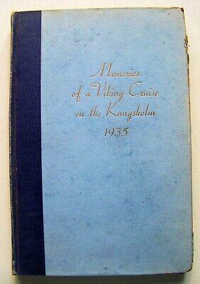 RARE 1935 KUNGSHOLM CRUISE TO RUSSIA & SCANDINAVIA MEMORIES BOOK w/CITY (Memorial City Map)